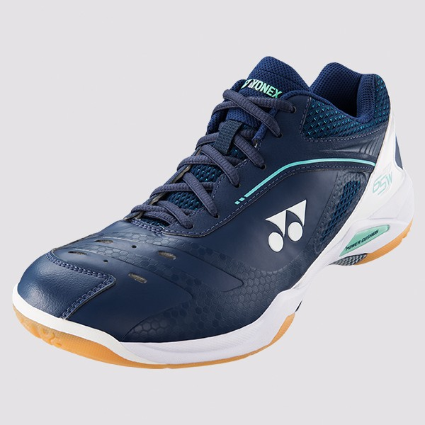 Bedminton / Obuv / BEDMINTONOVÁ OBUV POWER CUSHION 65 Z MEN WIDE NAVY